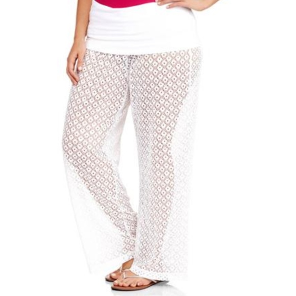 99254963ae Catalina Other - Catalina White Lace Beach Swimsuit Cover-up Pants